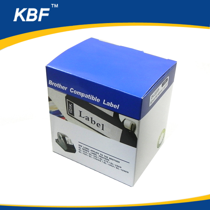 Custom Logo Continuous label etiquetas dk22205 thermal roll for wholesales