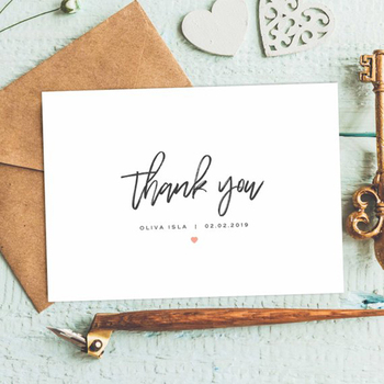 Baby Thank You Note Card Birthday