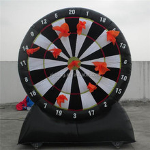 Inflatable dart board game with hooks & loops fastener B6030