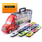 Cars Car Toys Kids Car Toy Car Model 12 In 1 Diecast Model Cars In Carrier Truck 1:36 Sliding Die Cast Casting Racing Alloy Car Play Set Toys Vehicles For Kids