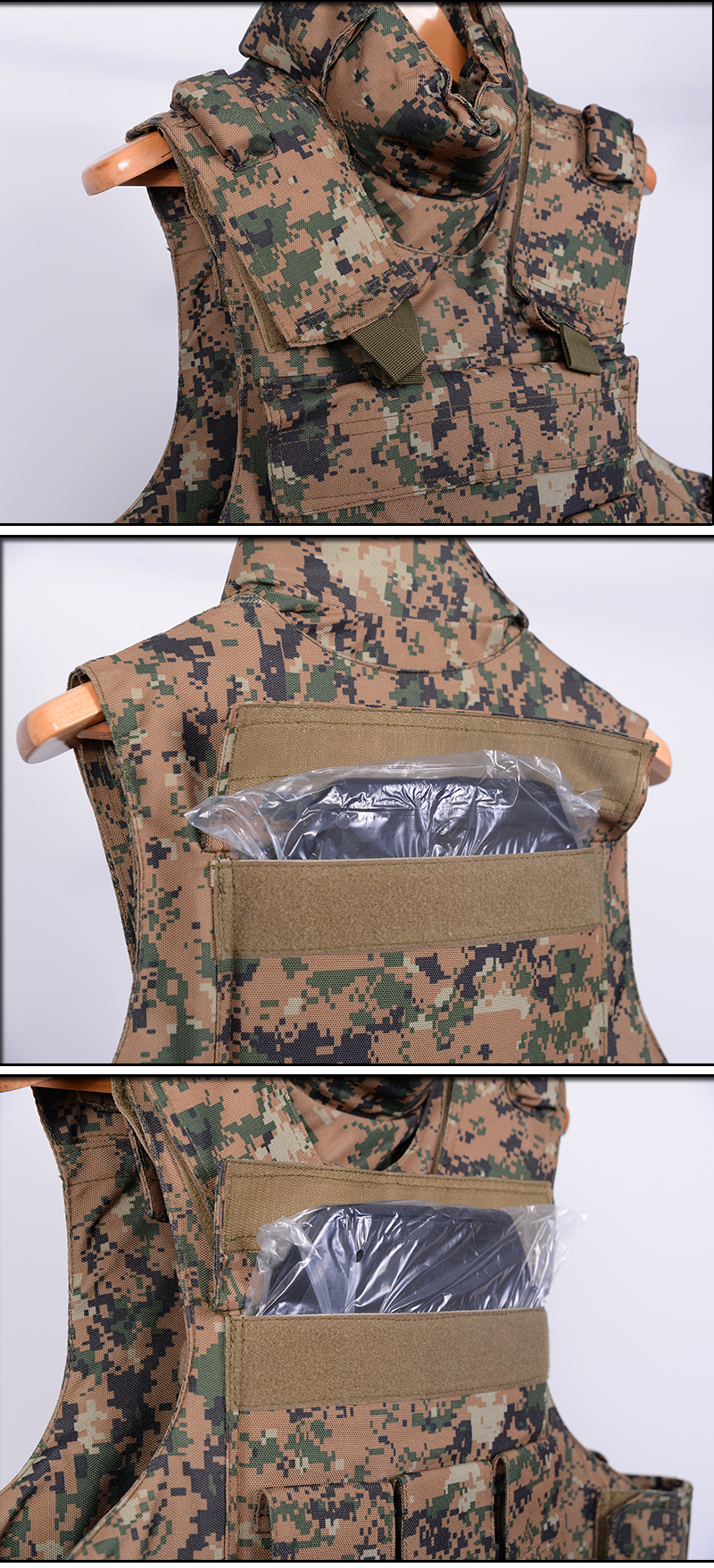 Wholesale Bulletproof Vest/Body Armor Plate Carrier combat protective camo level 4 military bulletproof vest military