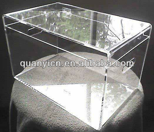 Widely use trasparent glass shoe boxes