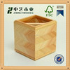 Fancy 2016 new design wooden pen holder FSC&SA8000 customized wooden pencil box