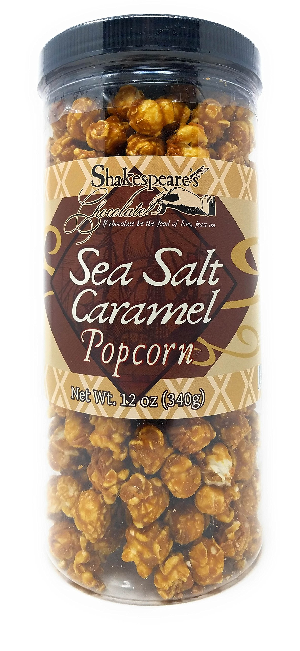 Flavored Popcorn Tub - Gourmet Flavored Popcorn for Parties, Movies, Snack Time - Enjoy Rich Gourmet Popcorn - Makes a Great Gift, Too! (Sea Salt & Caramel)