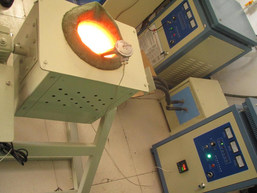 Magnetic 50kg copper melting high efficiency induction melting furnace