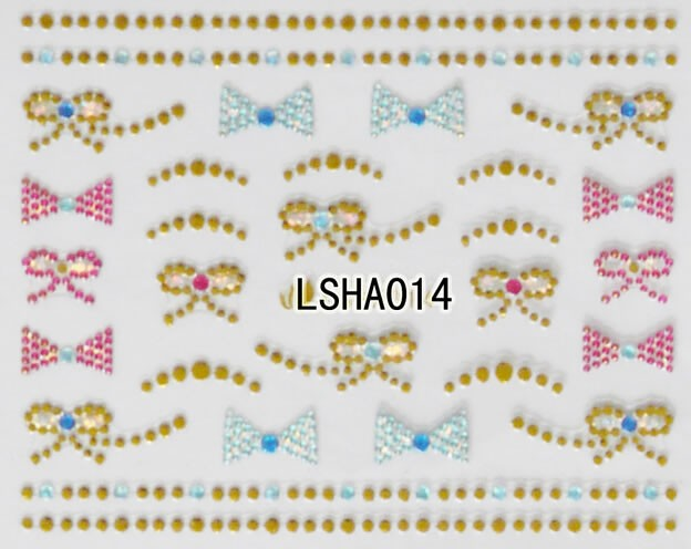 LSHA01-36 Rhinestones 3D nail sticker 3D Nail Stone Polish Sticker stickers for nails