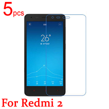 5pcs Ultra Clear LCD Screen Protector Film Cover For Xiaomi Red Rice 2 Hongmi 2 Redmi 2 Protective Film  +  cloth