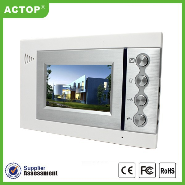 Actop wire gate intercom front door camera apartment for Front door video camera