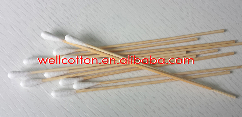 Bamboo Stick Cotton Swab Medical Bamboo Stick Cotton
