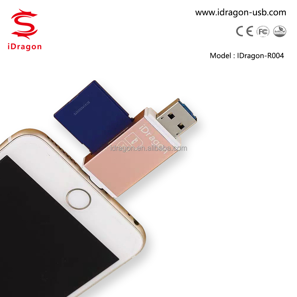 USB microsd chip card reader writer for iphone 6/6s