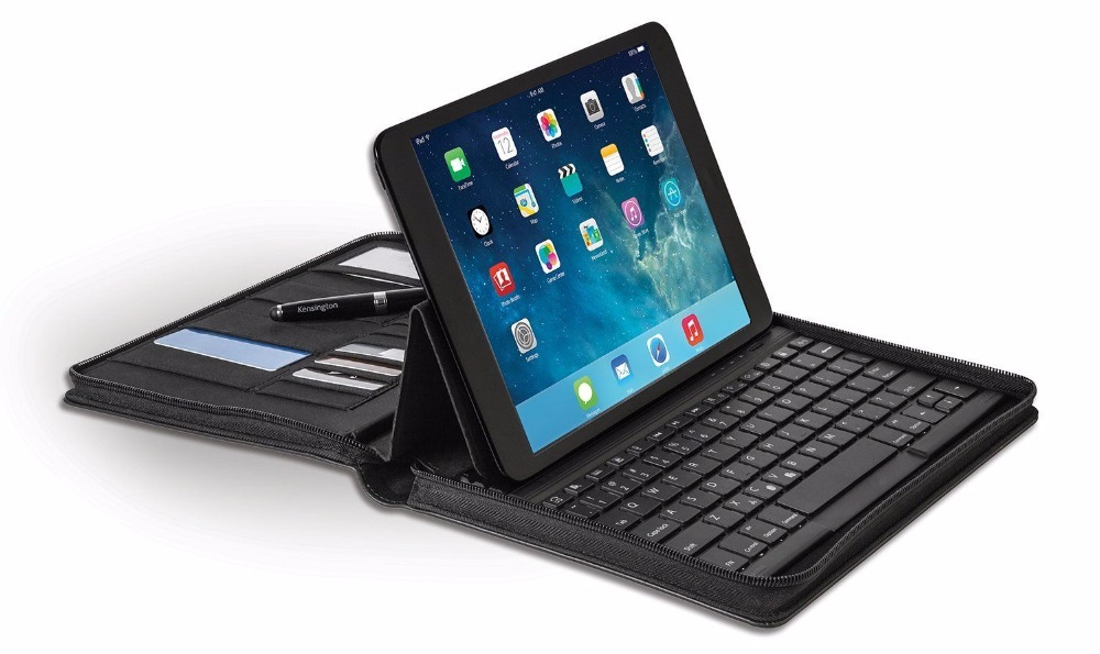 Black Stand Bluetooth Keyboard Leather Folio Case for Apple iPad Air 1/2
