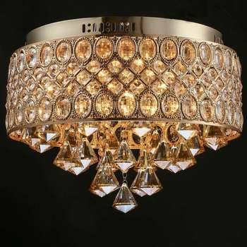 Modern luster french gold romantic gold crystal chandelier 4 lights modern luster french gold romantic gold crystal chandelier 4 lights lu aloadofball Image collections