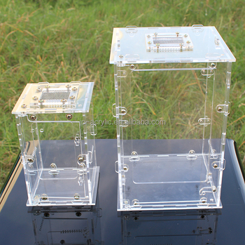 4 Sizes Clear Acrylic Plastic Reptile Terrarium With Lock Buy Acrylic