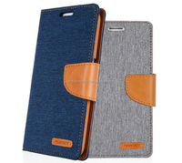 mercury goospery canvas diary wallet leather case, tpu cover case for Motorola X play XT1561