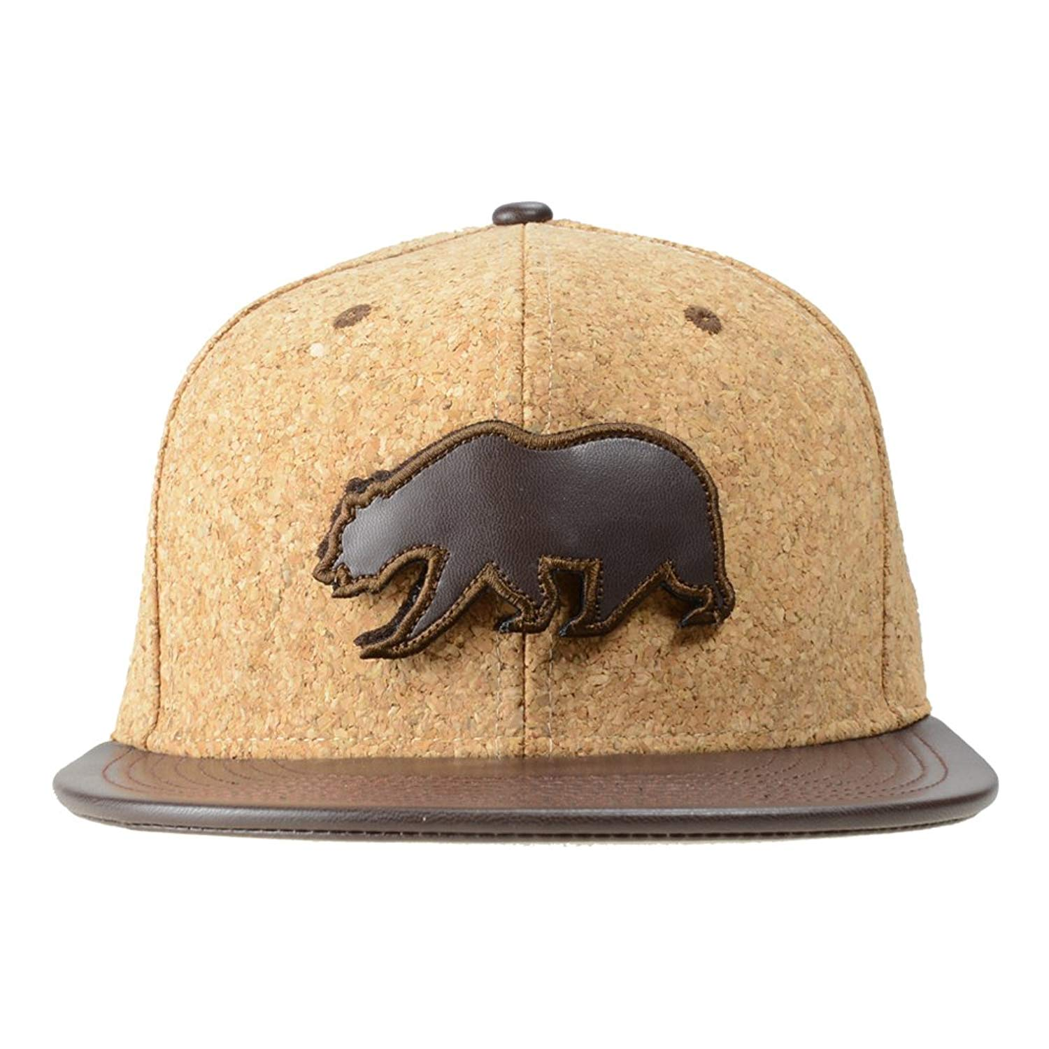 4374c70875f Get Quotations · Grassroots California Removable Bear Cork Snapback