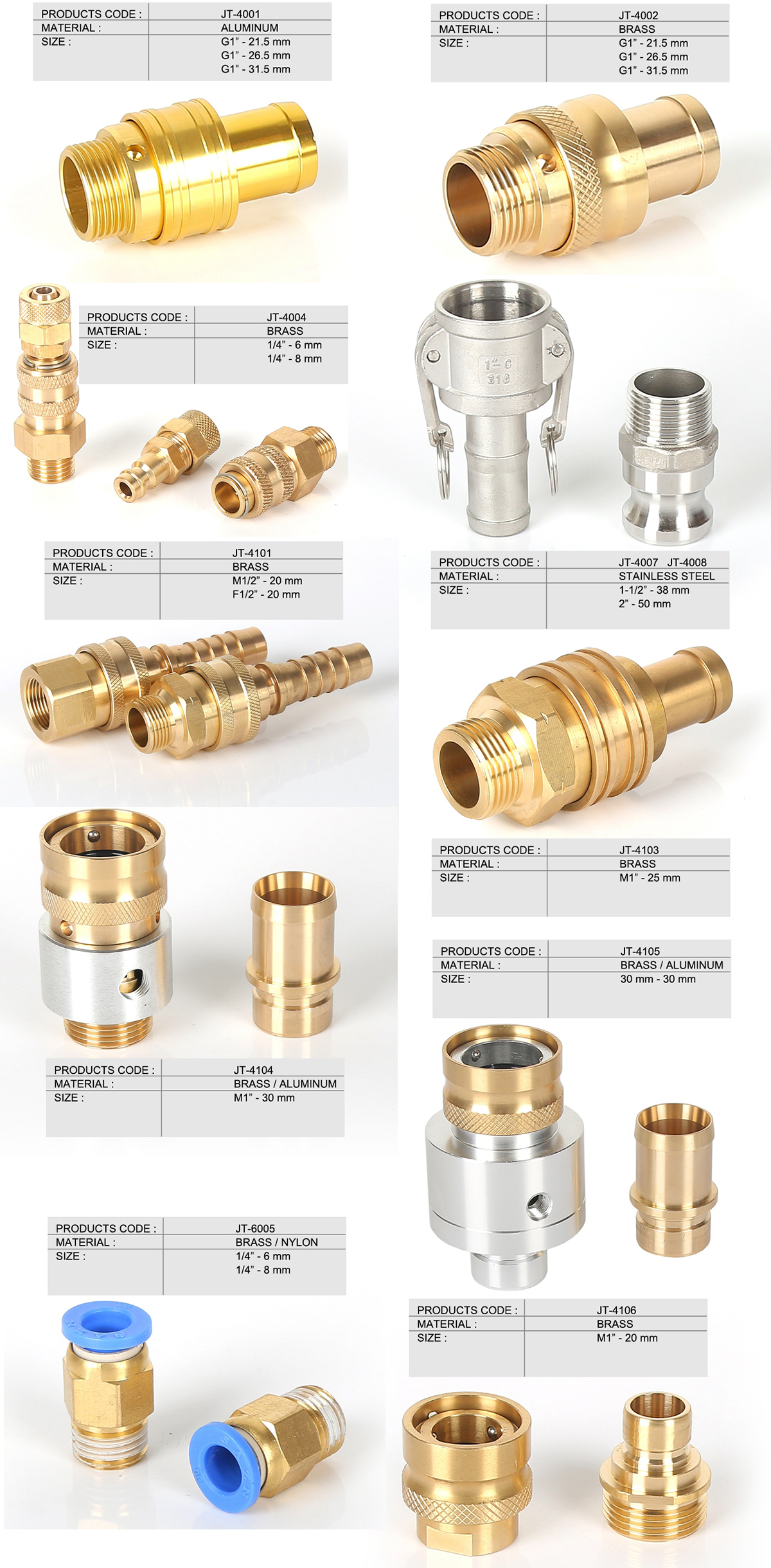 Factory wholesale french coupling quick coupling fittings water hose quick connector
