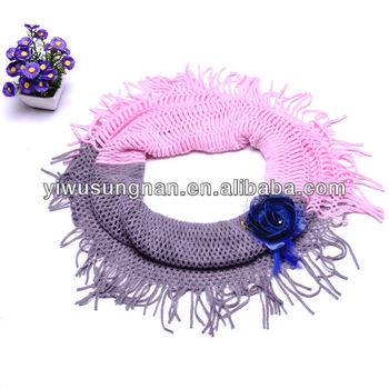 Fashion knitting round neck scarf warmer scarf