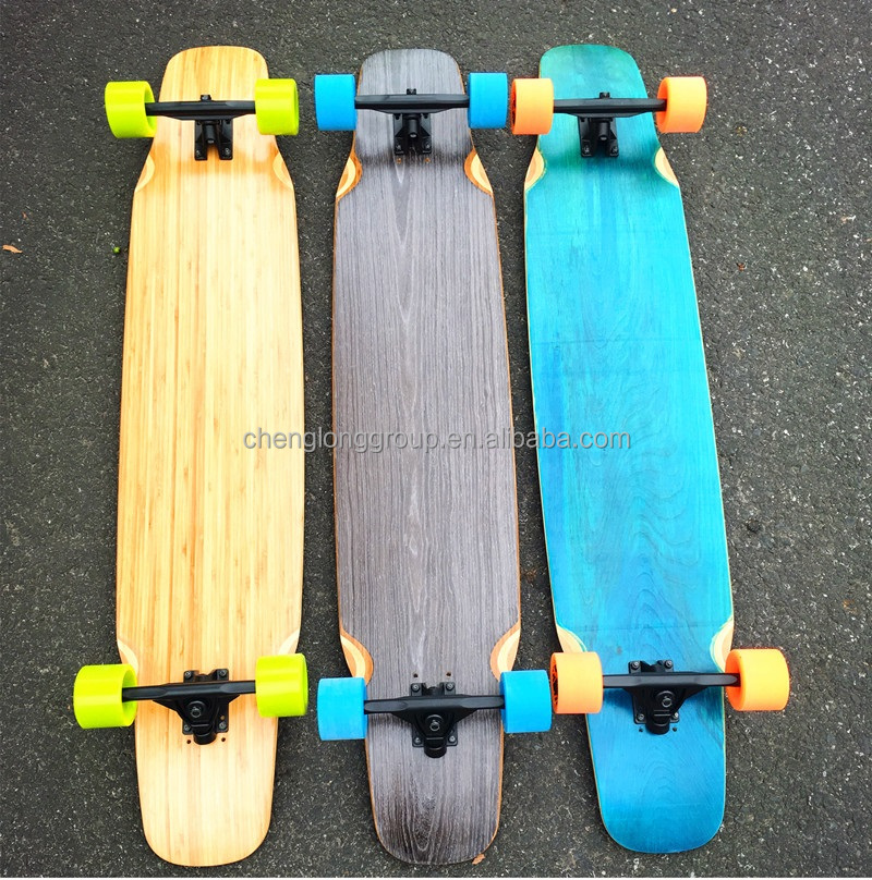 Pro dancing style longboard completes with bamboo & fiberglass mixed