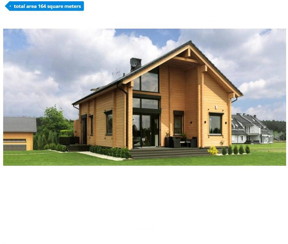 Luxury large 3 bedrooms prefab wooden home kit prefab house design for homestay
