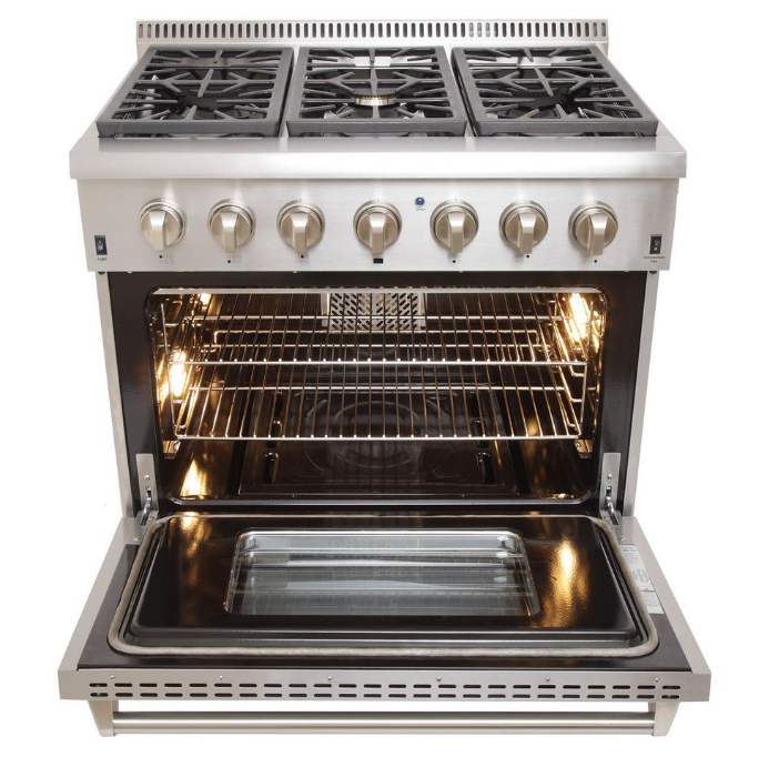 36 Inch 6 Burner Free Standing Gas Cookers Range Oven