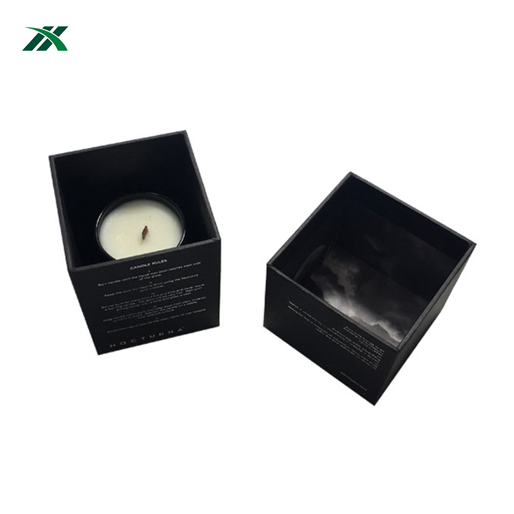 High Quality Rigid Cardboard Handmade Custom Logo Candle Jars Box