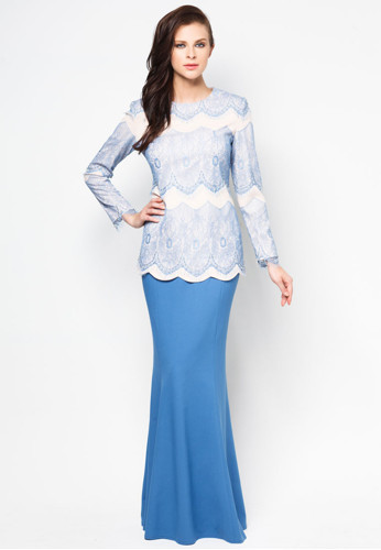 Muslim Clothing Latest Style Elegant Dress Fashion Baju Kurung ...