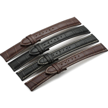 Crocodile pattern Genuine leather Watch Band Parts Stainless Steel Buckle Watch Band Leather
