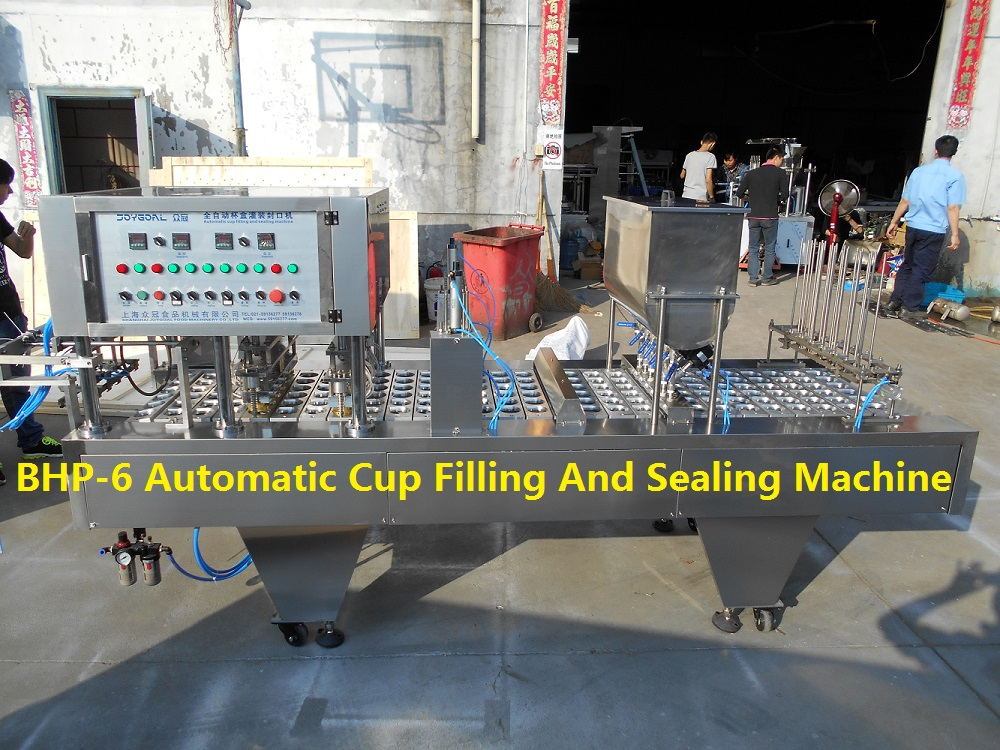 BHP yogurt cup filling machine yoghurt filling packing sealing capping machine