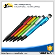 Plastic ball pen with 8G USB flash disk