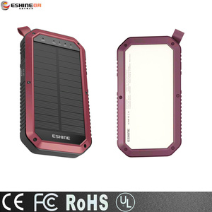 Solar power banks 8000mah portable charger dual USB for mobile phones