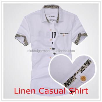 diseño de los hombres 2015 bolsillo nuevo de corta de camisa manga último qOgnwTnE