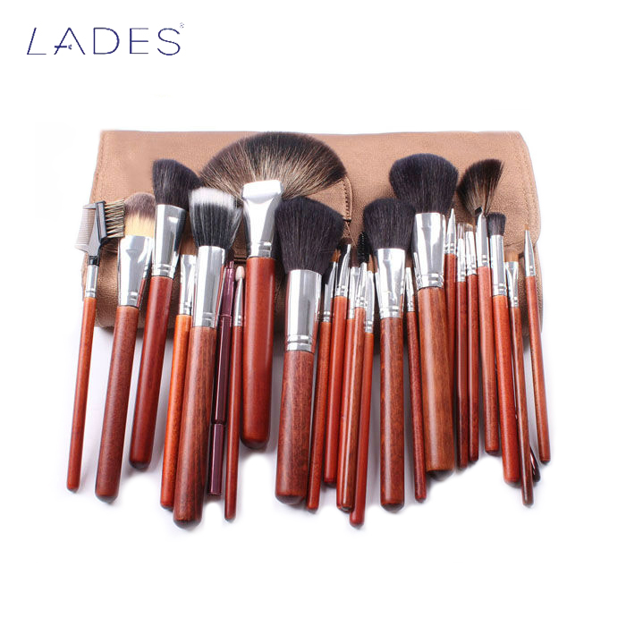 LADES 25pcs high quality professional makeup brush set custom logo wholesale cosmetic makeup brush