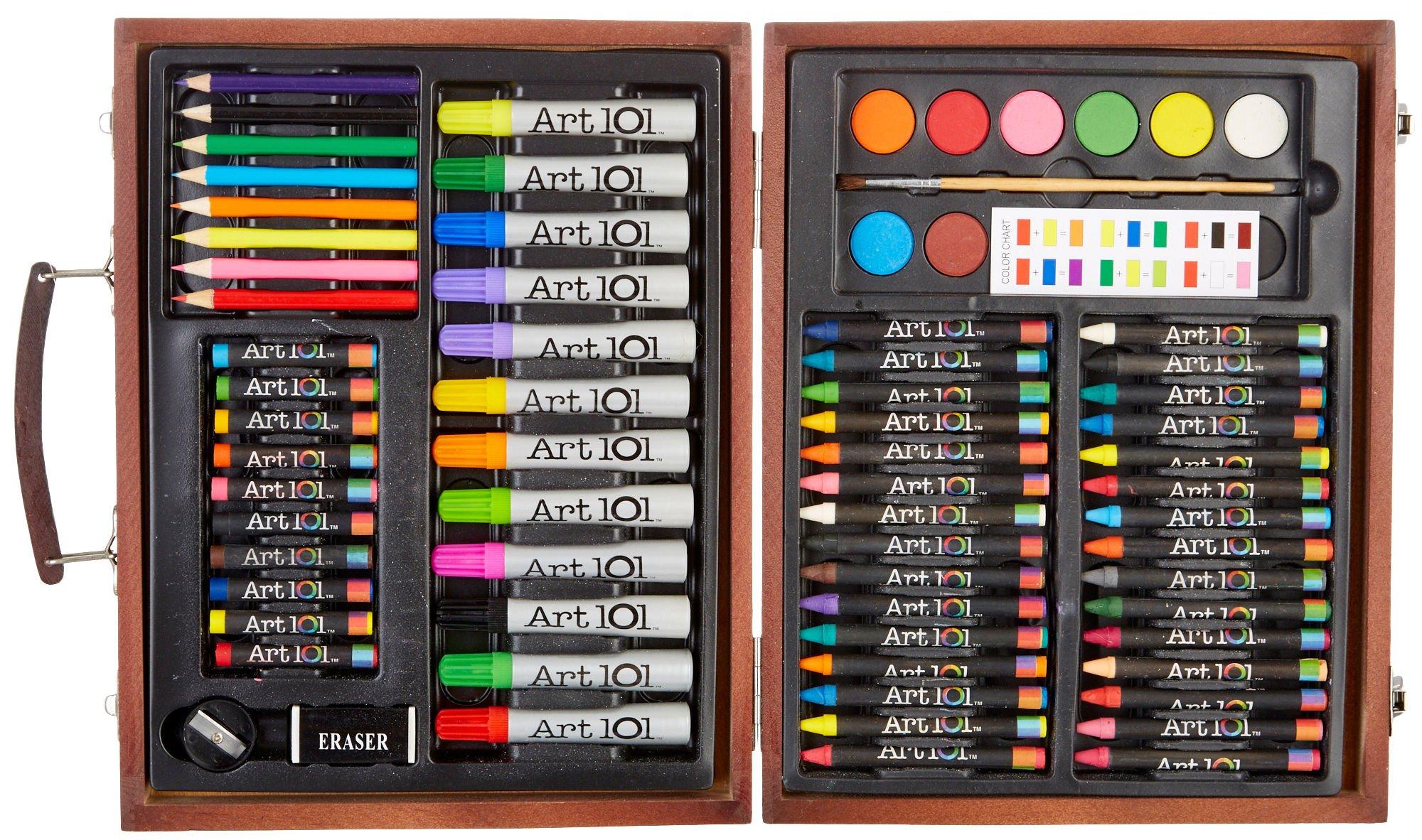 Art 101 78-Piece Art & Creative Set in a Wooden Case