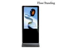 55 inch touch screen kiosk Floor Standing 1920X1080 LED screen all in one pc touchscreen digital advertising display