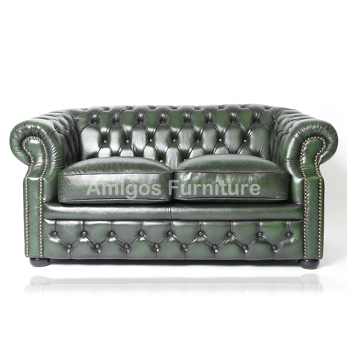 Marvelous Real Genuine Leather Antique Green Chesterfield 2 Seater Sofa View Real Genuine Leather Antique Green Chesterfield 2 Seater Sofa Amigos Product Onthecornerstone Fun Painted Chair Ideas Images Onthecornerstoneorg