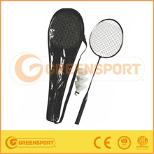 2015 high quality indoor Outdoor badminton racket set with shuttlecocks