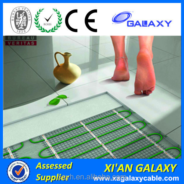 Heat Resistant Floor Radiant Warming Mat/Cable Energy Saving Type Electric Heated Floor Mats
