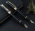 Business black metal vulpen gift sets met gold grip
