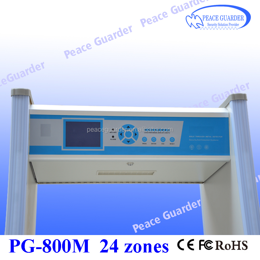 24zone walk through metal detector price for airport security check PG-800M