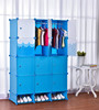 Large capacity portable kids plastic wardrobe design/ wardrobe for kids