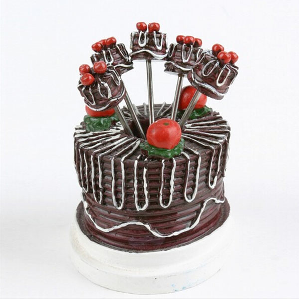 Wedding Dinnerware Set Cake Design Fruit Pick Fruit Fork