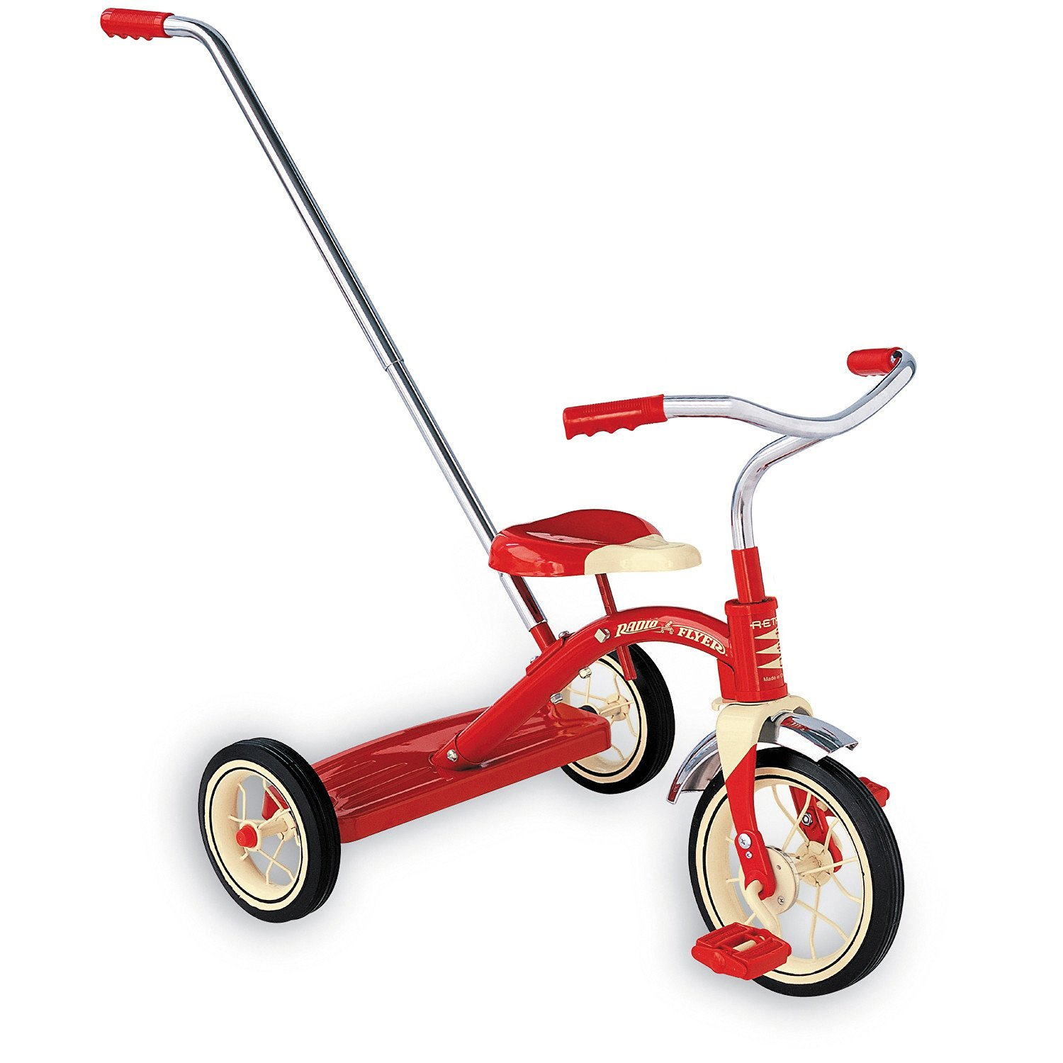 Radio Flyer Classic Tricycle with Push Handle, Kids Tricycle