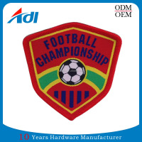 Custom high quality embroidered overlock woven sports ball patches