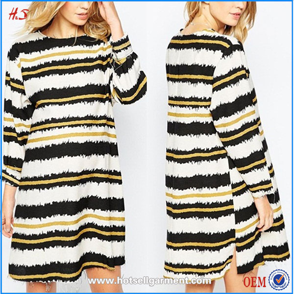 Top Selling Woman Wear Wholesale Clothing Market Shift Dress Scratchy Stripe Maternity Dresses