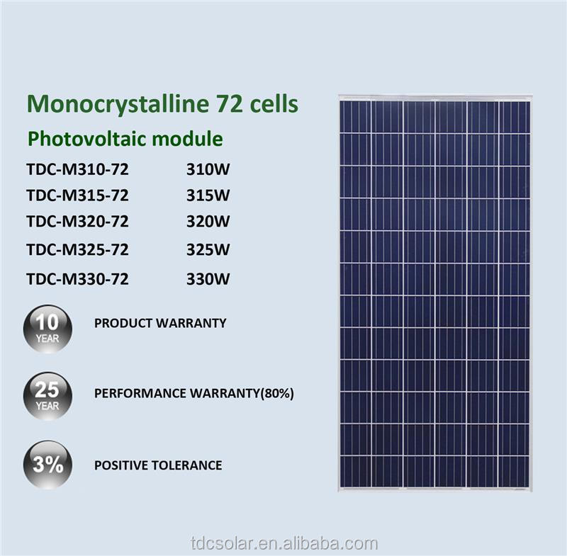 Hot selling tata bp solar products 12v 300w photovoltaic panels