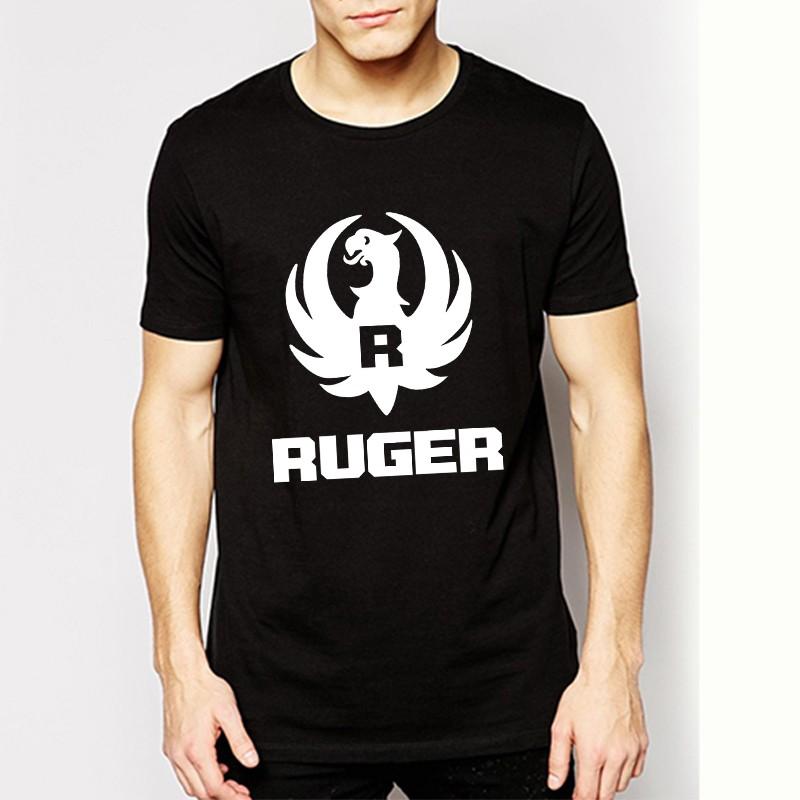 Wholesale Summer New Ruger Logo Shirts Pro Gun Trendy Men