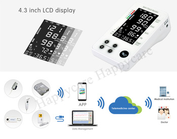 HC-C014 CE FDA Approved Wireless Spot-check Monitor for Glucose and ECG