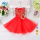 Fancy Frocks For Baby Girls Flower Embroidery Tulle Breathable Sleeveless Summer Children Clothing L9009