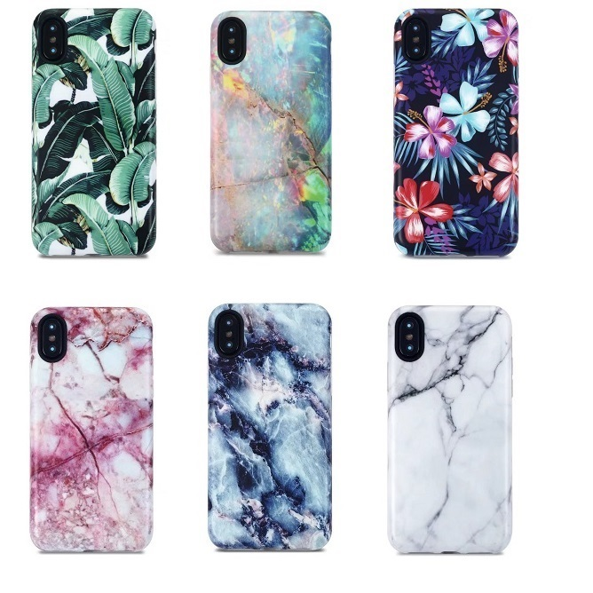 White Marble Pattern Frosted Flexible Silicone Case for iPhone X,for iPhone X IMD Soft Case