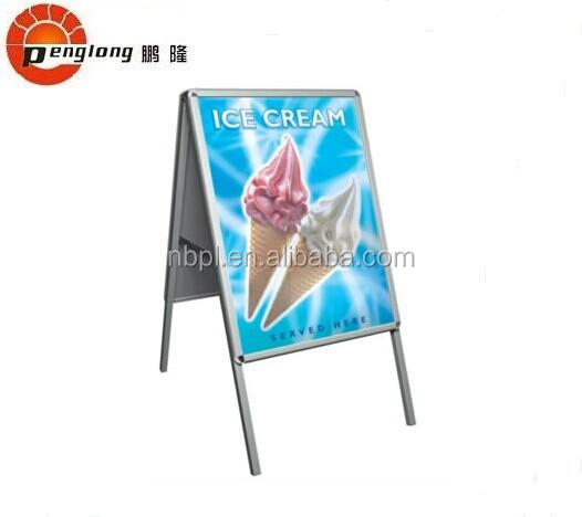 aluminum poster board stand hanging sign holders